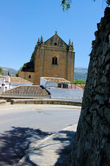 Ronda's Old church III (cwgoodroe) Tags: summer costa white hot sol beach del bells spain ancient europe churches sunny bull bullfighter adobe ronda moors walls washed clothesline protective newbridge roda bullring stonebridge oldbridge spainish whitehilltown rondah spanishdoors