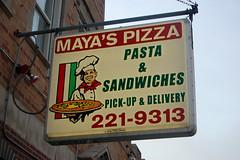 Maya's (reallyboring) Tags: chicago sign restaurant illinois awesome cheap mayas 1927 southchicago mayaspizza