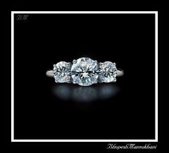 a three facet diamond ring