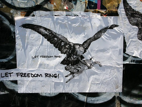 Let Freedom Ring poster. Caw!