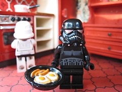 Death Star Domesticity (sosij) Tags: kitchen starwars lego 7 nostalgia darth sausages eggs fryingpan hohum dollshouse theempirestrikesback totw stormtroooper darthvada deathstarcanteen lifeinminature blackstormtrooperapparantly sosijstandscorrected shadowtrooperaccordingtomy8yearold whoopstakenyesterdaynotimetoupload thanksgeeks breakfastwiththestormtroopers ineedatray