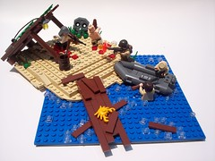 Makin Atoll: The Rescue (Andrew F.) Tags: world two war call lego duty wwii ww2 marines wwll brickarms