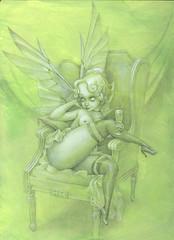 WIP - Absinthe Fairy Paint 1