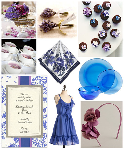 Cobalt and Lavender Luncheon