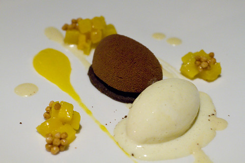 chocolate/espresso with mango