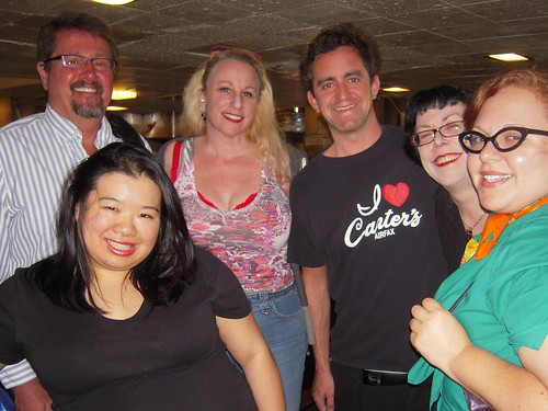 The @LAmetblogs crew: 5/22, 6pm @frazgo @jozjozjoz @ruth666 Daniel  our Canter's server @traviskoplow @xandra
