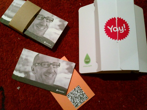 Yay! I got my MOO cards