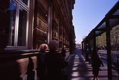 City reflections (Stephen Dowling) Tags: colour film 35mm slide slovenia ljubljana kodakebx100 smctakumar2835 pentaxesii