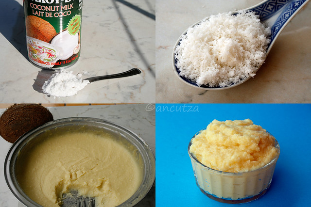 foto preparazione crema pasticcera al cocco