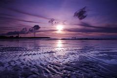 [フリー画像] 自然・風景, ビーチ・砂浜, 夕日・夕焼け・日没, 台湾, 201106211900