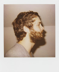 brian's beard (WOLF CHOIR) Tags: portrait beard polaroid nice profile polaroid600 beardo brianlee