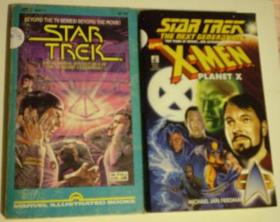 Front covers of Star Trek books