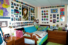 Home, Sweet Dorm (plecojan) Tags: college colors bedroom university photos room dorm posters walls dormitory susquehannauniversity