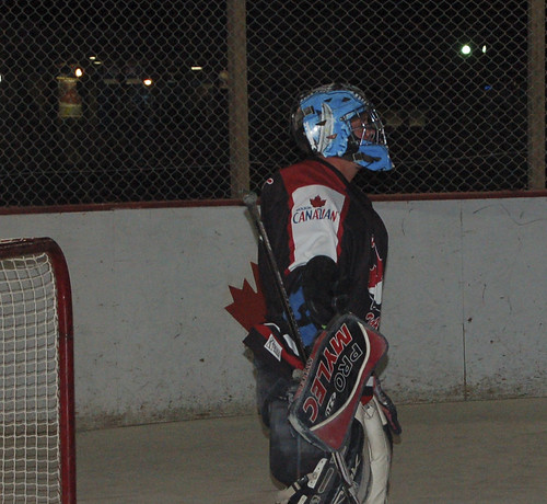 Troops in Afghanistan Team Molson Goalie