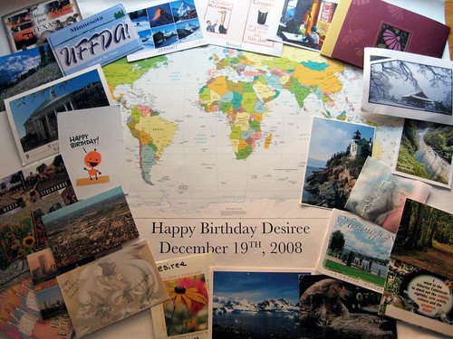 Postcards for Desiree's Birthday