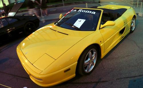 Ottawa Ferrari Fest 2008: A Yellow Ferrari F355 Spider.,car, sport car