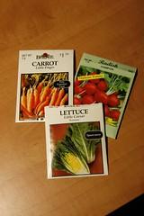 Seeds carrots lettuce radish (tonyolm) Tags: seeds lettuce carrots radish