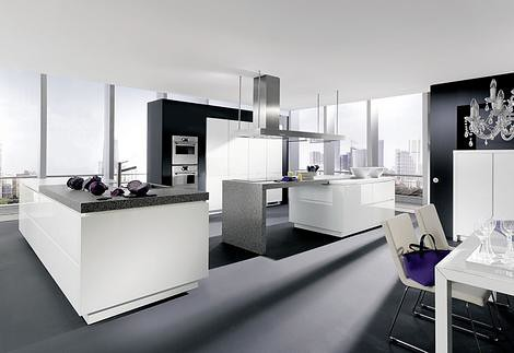 Minimalist Kitchen with Black and White Style