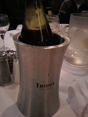 The real irony? The wine is from Sonoma.