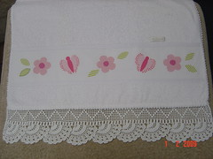 toalha borboletas 2.. (Renata ...) Tags: flor borboleta toalha patch