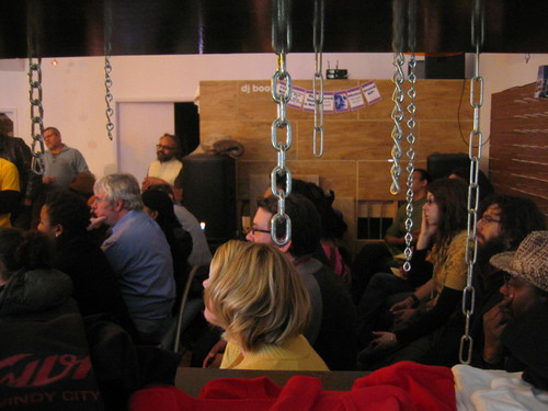 Audience at artist' panel, Silver Room