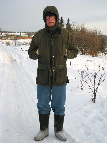 Carl Dressed for Minus 15 Degrees Celsius
