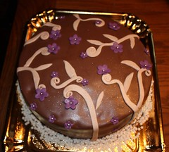 Schokoladen Torte (evi_vintage) Tags: flower cakes pretty pasta schokolade torte zuckerpaste