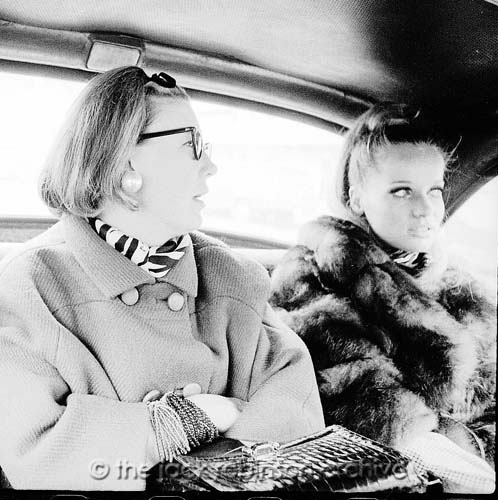 The model Veruschka von Lehndorff is pictured here with Vogue editor Carrie Donovan from 1966.