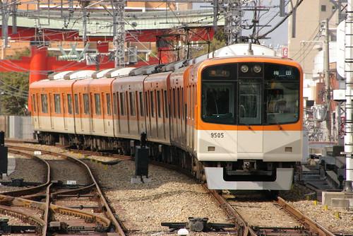 Hanshin9300series in Amagasaki(Hanshin),Amagasaki,Hyōgo,Japan 2009/2/14