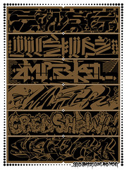 """WE LOVE LA"" silkscreened print (Joe Ism) Tags: art print poster graffiti los angeles ewok silkscreen awr msk rime 2009 revok krush retna augor canvasla"