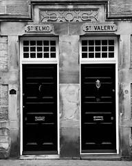 St Elmo & St Valery (backroom.angel) Tags: mono blackwhite northumberland alnmouth 10x8