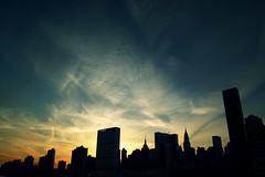 Winter Skyline (laverrue) Tags: nyc sunset building skyline clouds manhattan unitednations empirestatebuilding gothamist rooseveltisland gettyimages bestofr chryslerbuliding gettyimagescontributor