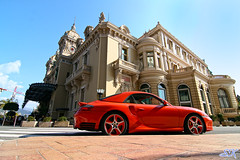 Turbo and the Big Casino (Kyter MC) Tags: orange digital canon photography eos rebel automobile kiss europe cotedazur angle ks wide automotive x montecarlo monaco tokina turbo porsche sk ultra supercar spotting supercars frenchriviera carspotting xti 400d 1116mm kyter carsighting