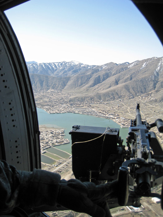 Door Gunner view of Kabul