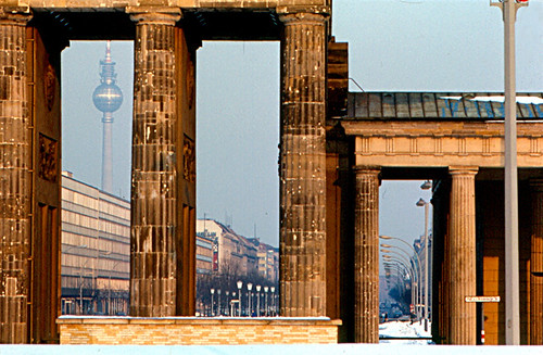 Berlin - Brandenburg Gate and Television Tower