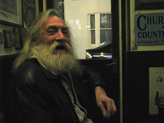 Look into the mirror and tell me you have lived. (monkeymillions) Tags: santa beard brighton oldman wise gandalf willienelson chatty basketmakers thoroughlynicechap ihopetolookthisgoodoneday