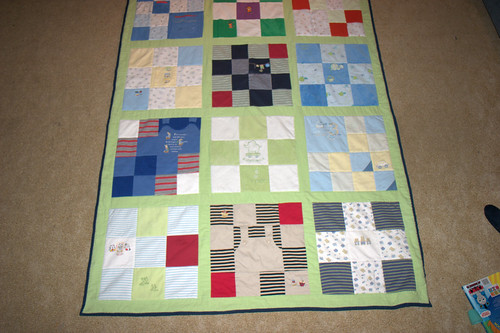Ewan's quilt, bottom end