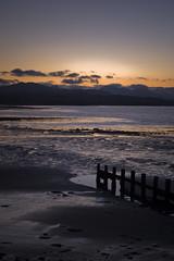 (STCM) Tags: sea sun mountains beach water wales clouds coast sand hills welsh rise groyne