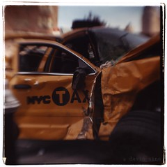 Smashed Taxi
