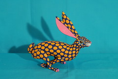 Running Rabbit Oaxaca (Teyacapan) Tags: wood bunnies easter mexico madera folkart crafts artesanias oaxaca rabbits jackrabbit alebrijes zapotec