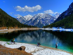 Fishing at Plansee, Tyrol (Austria) (Claude@Munich) Tags: lake alps reflection berg geotagged austria see tirol sterreich wasser berge explore alpen bergsee spiegelung hdr tyrol plansee claudemunich geo:lon=1077776 breitenwang kleinerplansee archbach geo:lat=4747684 explore465090426 explore141090427