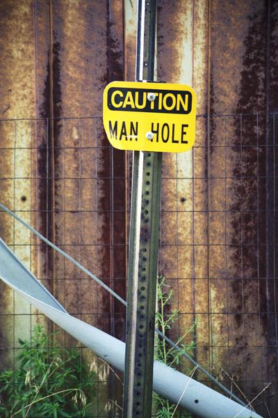 Caution Manhole 1
