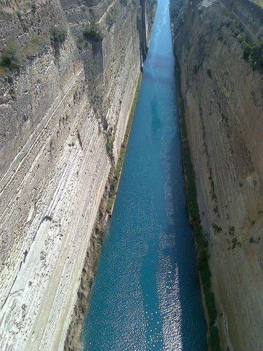The Corinth Canal in Greece