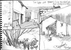 vie rurale / Life of farm (chrisaqua47) Tags: art animals de book sketch drawing farm dessin animaux ferme croquis carnet sktechs