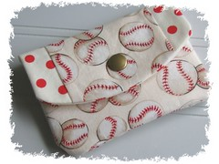 Mini Wallet~Baseball~Polka Dots~Ivory~Red~White (lucky17designs) Tags: red white sports women baseball wallet ivory polkadots bags softball etsy purses cardholder idholder miniwallet giftcardholder businesscardcase lucky17 lucky17designs
