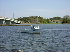 Sailing in the Harbor (olbullturkle6961) Tags: waterman workboat commercial fisherman hoopers island boat water harbor dock cabin chesapeake bay mama tried 27 kinnamon crab potter bridge marsh brother work red cedar trim