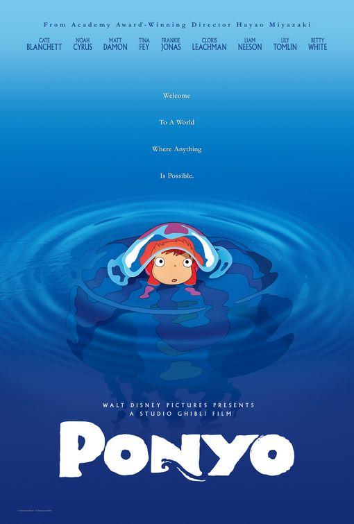 Ponyo Estudio Ghibli poster