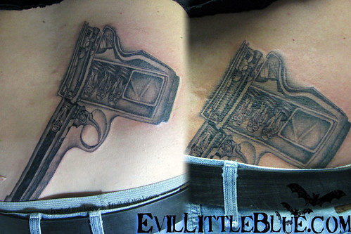 "HR Giger's ""Birthmachine"" Tattoo by Miss Blue www."