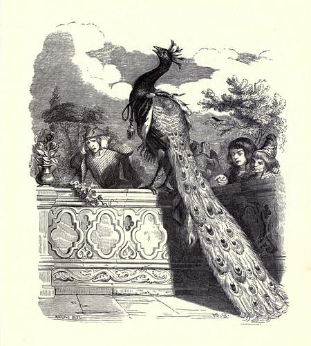 011- El pavo real clamando a Juno-Fabulas La Fontaine-J.Grandville