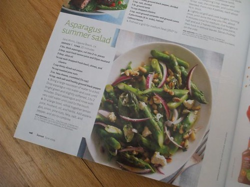 asparagus salad in Sunset